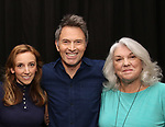 Adrienne Campbell Holt, Tim Daly and Tyne Daly attends the Photo Call for The Dorset Theatre Festival World Premiere of Theresa Rebeck's 'Downstairs' at Actors Connection on May 10, 2017 in New York City.