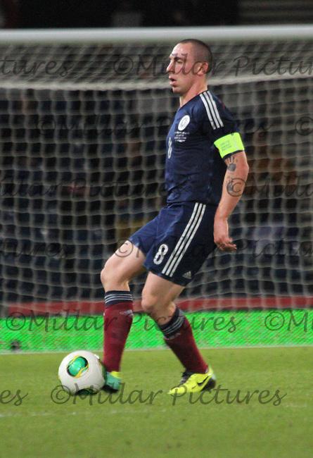 Scott Brown in the Scotland v USA friendly International match at Hampden Park, Glasgow on 15.11.13.