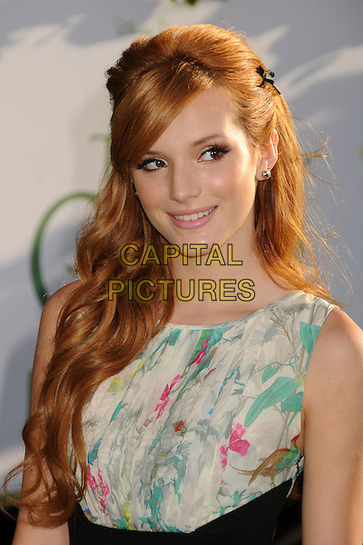 """Bella Thorne.""""The Odd Life of Timothy Green"""" Los Angeles Premiere, Hollywood, California, USA..August 6th, 2012.headshot portrait  black sleeveless white green print top.CAP/ADM/BP.©Byron Purvis/AdMedia/Capital Pictures."""