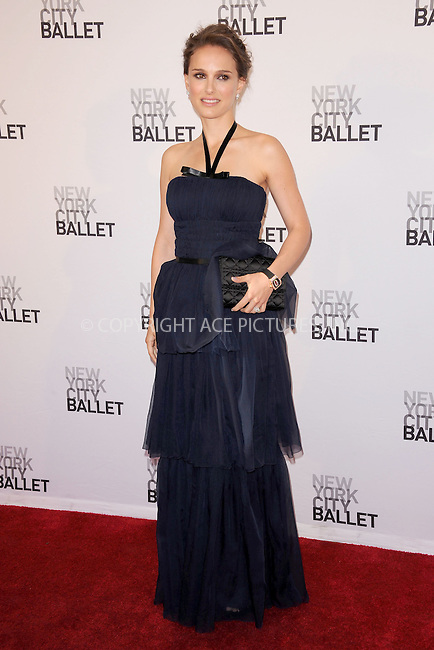 WWW.ACEPIXS.COM . . . . . .May 10, 2012...New York City....Natalie Portman attending New York City Ballet`s 2012 Spring Gala Performance at the David H. Koch Theater at Lincoln Center on May 10, 2012  in New York City ....Please byline: KRISTIN CALLAHAN - ACEPIXS.COM.. . . . . . ..Ace Pictures, Inc: ..tel: (212) 243 8787 or (646) 769 0430..e-mail: info@acepixs.com..web: http://www.acepixs.com .