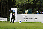 Lee Slattery (ENG) tees off on the par3 17th tee during Day 1 of the BMW International Open at Golf Club Munchen Eichenried, Germany, 23rd June 2011 (Photo Eoin Clarke/www.golffile.ie)