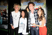 LOS ANGELES - FEB 10: Ross Lynch, Raini Rodriguez, Calum Worthy, Laura Marano at the screening of the Disney Channel Original Movie 'Bad Hair Day' at the Frank G Wells Theater on February 10, 2015 in Burbank, CA