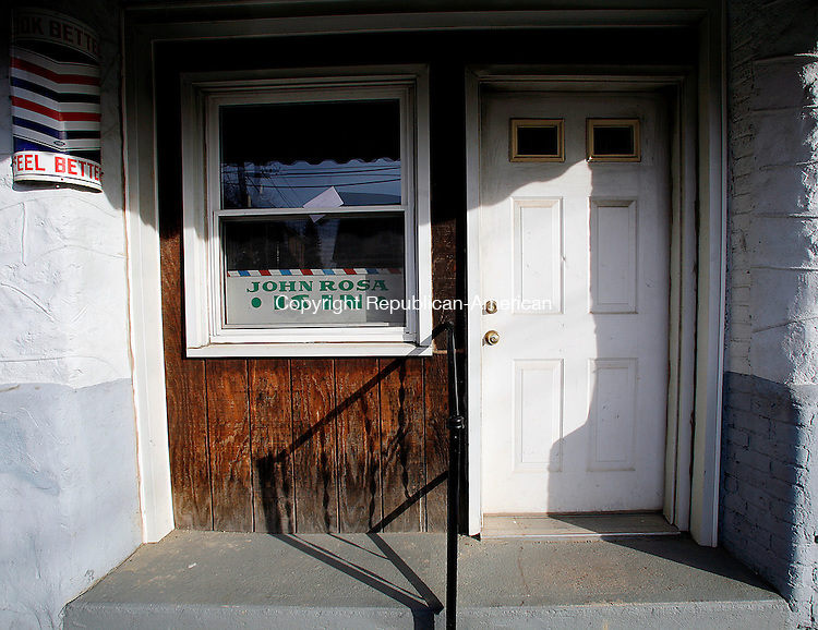 Waterbury, CT-30, December 2009-123009CM13 -- The barber shop on Hillside St., in Waterbury was the scene of a horrible event.  Christopher Massa Republican-American