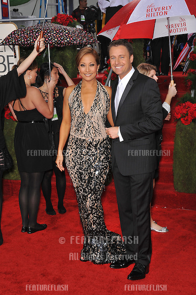 Carrie Ann Inaba & Chris Harrison at the 67th Golden Globe Awards at the Beverly Hilton Hotel..January 17, 2010  Beverly Hills, CA.Picture: Paul Smith / Featureflash