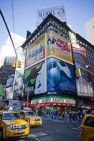 Advertising in Times Square in New York for Broadway plays and musicals is seen on Sunday, February 26, 2012. ( © Richard B. Levine)