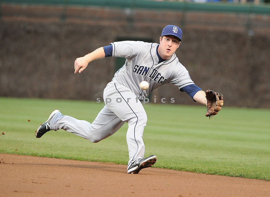 San Diego Padres Jedd Gyorko (9) during a game against the Chicago Cubs on April 29, 2013 at Wrigley Field in Chicago IL. The Cubs beat the Padres 5-3.