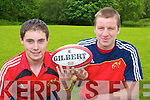 Killarney Rugby players Cillian Walsh (left) and Connie O'Leary who have been selected for the Munster under 17 squad