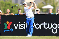 Paul Dunne (IRL) tees off during Thursday's Round 1 of the 2016 Portugal Masters held at the Oceanico Victoria Golf Course, Vilamoura, Algarve, Portugal. 19th October 2016.<br /> Picture: Eoin Clarke | Golffile<br /> <br /> <br /> All photos usage must carry mandatory copyright credit (&copy; Golffile | Eoin Clarke)