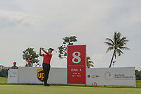 Yuxin LIN (CHN) watches his tee shot on 8 during Rd 4 of the Asia-Pacific Amateur Championship, Sentosa Golf Club, Singapore. 10/7/2018.<br /> Picture: Golffile | Ken Murray<br /> <br /> <br /> All photo usage must carry mandatory copyright credit (&copy; Golffile | Ken Murray)