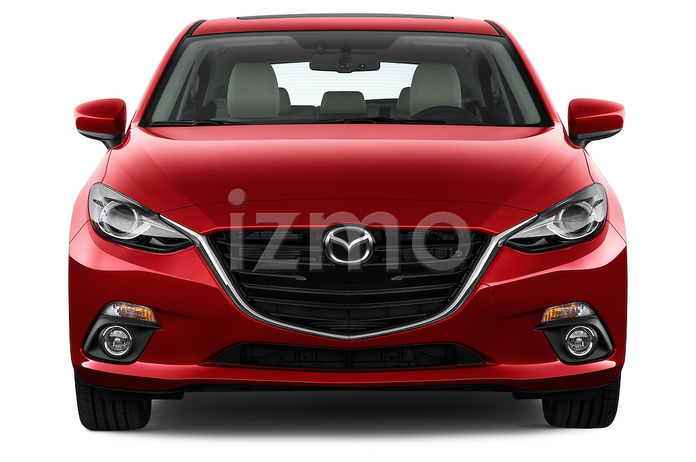 Straight front view of a 2014 Mazda Mazda 3 I Grand Touring HatchBack