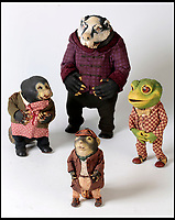 BNPS.co.uk (01202 558833)<br /> Pic:   Dukes/BNPS<br /> <br /> Wind in the Willows characters Badger, Toad, Ratty and Mole.<br /> <br /> The original figures from the childhood classic film Wind in the Willows have emerged for sale for £10,000.<br /> <br /> Twenty five figures will go under the hammer including the four main characters, Badger, Toad, Mole and Ratty.<br /> <br /> They were used in the 1983 animation film and subsequent TV show which ran for 52 episodes on ITV from 1984 to 1988.<br /> <br /> The beloved film, in which Chief Weasel was voiced by David Jason, won a BAFTA for 'best children's programme' and an international Emmy.