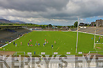 The view of the pitch from the new stand in Fitzgerald Stadium