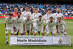 Real Madrid's team photo during La Liga match between Real Madrid and SD Eibar at Santiago Bernabeu Stadium in Madrid, Spain.April 06, 2019. (ALTERPHOTOS/A. Perez Meca)