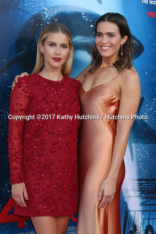 """LOS ANGELES - JUN 12:  Claire Holt, Mandy Moore at the """"47 Meters Down"""" Premiere at the Village Theater on June 12, 2017 in Westwood, CA"""