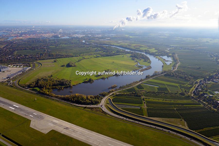 Alte Süderelbe Westteil: EUROPA, DEUTSCHLAND, HAMBURG,  29.10.2019: Alte Süderelbe Westteil