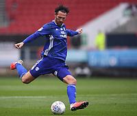 4th July 2020; Ashton Gate Stadium, Bristol, England; English Football League Championship Football, Bristol City versus Cardiff City; Sean Morrison of Cardiff City plays the ball long forward