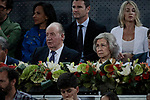 Former King Juan Carlos I and Former Queen Sofia of Spain during the Mutua Madrid Open Masters match on day eight at Caja Magica in Madrid, Spain.May 11, 2019. (ALTERPHOTOS/A. Perez Meca)