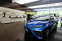 "May 8, 2015, Tokyo, Japan - Toyota Motor Corp.'s fuel cell vehicle FCV ""Mirai"" is displayed at its showroom in Tokyo on Friday, May 8, 2015. The world's top-selling automaker forecasts operating profit will edge up 1.8 percent this year to 2.80 trillion yen. (Photo by Yohei Osada/AFLO)"