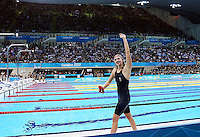 London 2012 Olympic Games - Swimming - Aquatics Centre, Olympic Park, London, England - 29/07/12 - Great Britain's Rebecca Adlington wins Bronze in the Women's 400m Freestyle Final.
