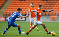 Blackpool's Callum Cooke gets way from Portsmouth's Ben Close<br /> <br /> Photographer Alex Dodd/CameraSport<br /> <br /> The EFL Sky Bet League One - Blackpool v Portsmouth - Saturday 11th November 2017 - Bloomfield Road - Blackpool<br /> <br /> World Copyright &copy; 2017 CameraSport. All rights reserved. 43 Linden Ave. Countesthorpe. Leicester. England. LE8 5PG - Tel: +44 (0) 116 277 4147 - admin@camerasport.com - www.camerasport.com