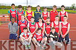 Pobal Scoil Chorca Dhuibhne team at the Kerry Vocational Schools championships in Castleisland on Thursday front l-r: Colm Greaney, Joe Saunder and John Cosí. Middle row: Ifeanyi Nworji, Sean O'brien, Breanim Bruic, Adam McAulliffe, Caoilte Curneen, Sean b Beaglaoich, Ciarn O'Conaill. Back row: Franz Sauerland, Darragh Fitzgerald, Eoghan Moriarty, Liam MacGabhann, Nikolia O'Connor, Aaron O'Sullivan, Donncha O Siochrú