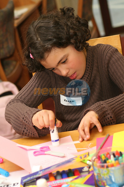 Kenza Cherouat at the Card Making Workshop in The Library...Photo NEWSFILE/Jenny Matthews.(Photo credit should read Jenny Matthews/NEWSFILE)....This Picture has been sent you under the condtions enclosed by:.Newsfile Ltd..The Studio,.Millmount Abbey,.Drogheda,.Co Meath..Ireland..Tel: +353(0)41-9871240.Fax: +353(0)41-9871260.GSM: +353(0)86-2500958.email: pictures@newsfile.ie.www.newsfile.ie.FTP: 193.120.102.198.