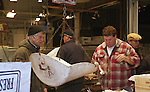 The last days of the Fulton Fish Market @ south street seaport in NYC just before it closed.