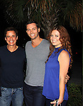 "Y&R Christian LeBlanc, Days Eric Martsolf and OLTL Melissa Archer at Southwest Florida's SoapFest's Celebrity Weekend to see Pelphrey doing A Night at the Theatre performing ""My Italy Story"" benefitting the Apothecary Theatre Company at the Rose History Auditorium on November 11, 2012 in Marco Island, Florida. (Photo by Sue Coflin/Max Photos)"