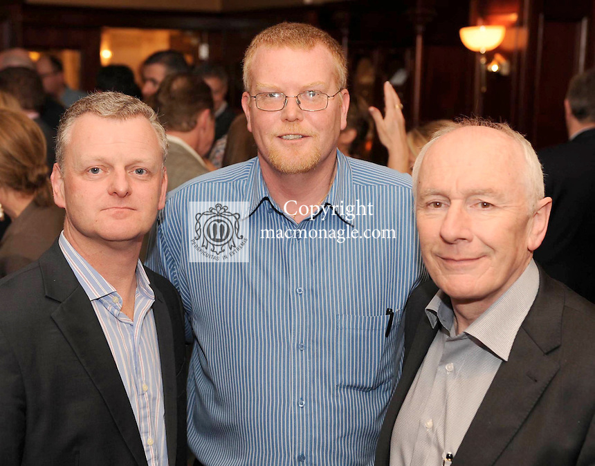 Ciaran O'hAnrachain, Letterkenny IT, Niall O'Shea, Hugh Jordans and Adrian Gregan Cork IT, at the Irish Hotels Federation Conference 'President's Dine Around' event in The  Killarney Park Hotel  on Monday  night. Picture: MacMonagle, Killarney