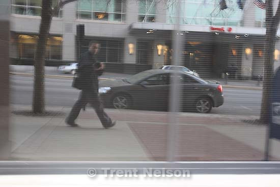 Trent Nelson reflected in building<br />
