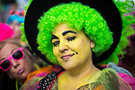 © Joel Goodman - 07973 332324. 05/08/2017 . Macclesfield , UK . A woman dressed as TV character Grotbags at the Rewind Festival , celebrating 1980s music and culture , at Capesthorne Hall in Siddington . Photo credit : Joel Goodman