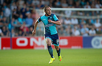 Michael Harriman of Wycombe Wanderers in action during the Sky Bet League 2 match between Wycombe Wanderers and Accrington Stanley at Adams Park, High Wycombe, England on 16 August 2016. Photo by Andy Rowland.
