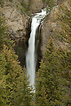 Tower Falls in the northeast  region of Yellowstone National Park, Wyoming.