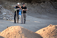 FAO JANET TOMLINSON, DAILY MAIL PICTURE DESK<br />Pictured: Special forensics police officers search a field in Kos, Greece. Monday 03 October 2016<br />Re: Police teams led by South Yorkshire Police, searching for missing toddler Ben Needham on the Greek island of Kos have moved to a new area in the field they are searching.<br />Ben, from Sheffield, was 21 months old when he disappeared on 24 July 1991 during a family holiday.<br />Digging has begun at a new site after a fresh line of inquiry suggested he could have been crushed by a digger.