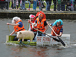Drogheda raft race on the river Boyne. Photo: Colin Bell/pressphotos.ie