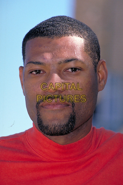 LAURENCE FISHBURNE .pre 1997.Ref: 026.headshot portrait red goatee facial hair .CAP/PL.©Phil Loftus/Capital Pictures.