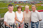 ENJOYING: Kevin and Geraldine Devane with Mary and Seamus Quinn from Dingle, enjoyed a great day of racing at the Dingle races on Saturday afternoon last..