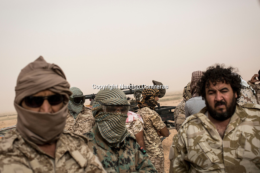 Friday 20, May 2016: Libyan fighters are seen at the fronline in Abugrein during the ongoing fighting against IS (iSlamic State) in Libya.