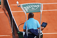 France, Paris , May 27, 2015, Tennis, Roland Garros, Umpire in chair<br /> Photo: Tennisimages/Henk Koster