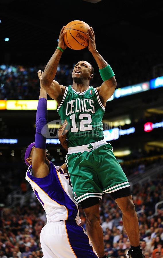Jan. 28, 2011; Phoenix, AZ, USA; Boston Celtics guard (12) Von Wafer against the Phoenix Suns at the US Airways Center. Mandatory Credit: Mark J. Rebilas-