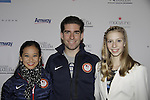 Felicia Zhang, Nathan Bartholomay (American pair skaters) & Polina Edmunds - Skating with the Stars - a benefit gala for Figure Skating in Harlem in its 17th year is celebrated with many US, World and Olympic Skaters honoring Michelle Kwan and Jeff Tweedy on April 7, 2014 at Trump Rink, Central Park, New York City, New York. (Photo by Sue Coflin/Max Photos)