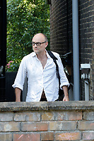 Dominic Cummings and damaged car<br /> London, England on June 26, 2020.<br /> CAP/GOL<br /> ©GOL/Capital Pictures