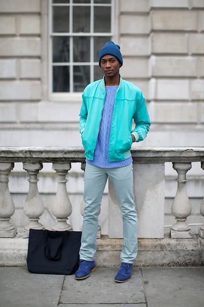 DaShaun Hightower at London Fashion Week, Somerset House