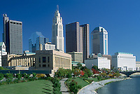 Columbus, Ohio, Skyline  with federal building on the front, left side. Several state government buildings