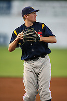 September 1, 2009:  Third Baseman Pat Irvine of the State College Spikes during a game at Frontier Field in Rochester, NY.  State College is the NY-Penn League affiliate of the Pittsburgh Pirates.  Photo By Mike Janes/Four Seam Images