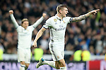Real Madrid's Toni Kroos (r) and Luka Modric celebrate goal during Champions League 2016/2017 Round of 16 1st leg match. February 15,2017. (ALTERPHOTOS/Acero)