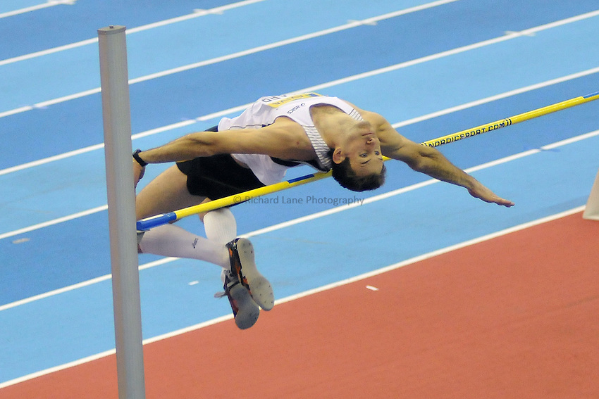 Photo: Tony Oudot/Richard Lane Photography. Aviva Grand Prix. 20/02/2010. .Adam Scarr of Great Britain in the men's high jump.