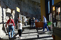 Visitors are seen entering the Creation Museum in Petersburg, Kentucky on January 3, 2013.