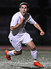 Alessandro Sambone #19 of Massapequa reacts after scoring the game-winning goal on a penalty kick in overtime to lift the Chiefs to a 2-1 win over Syosset in the Nassau County Class AA varsity boys soccer semifinals at Cold Spring Harbor High School on Monday, Oct. 31, 2016.