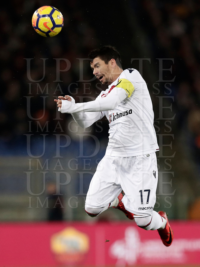 Calcio, Serie A: AS Roma vs Cagliari, Roma, stadio Olimpico, 16 dicembre 2017.<br /> Cagliari's Diego Farias in action during the Italian Serie A football match between AS Roma and Cagliari at Rome's Olympic stadium, December 16, 2017.<br /> UPDATE IMAGES PRESS/Isabella Bonotto